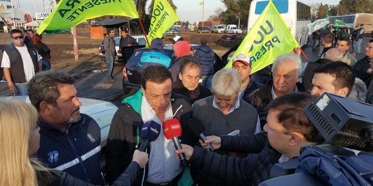 El Intendente Cáffaro acompaña a los trabajadores