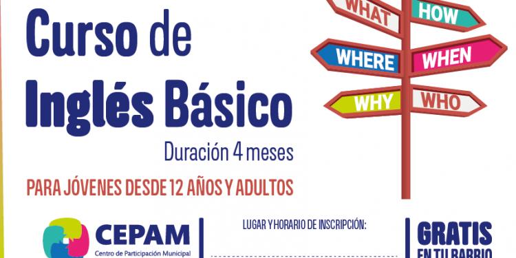 Se presentó el Curso de Inglés Básico que se dictará en los CEPAM