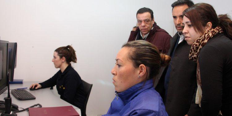 El Intendente Cáffaro visitó la Sala de Monitoreo de Lima