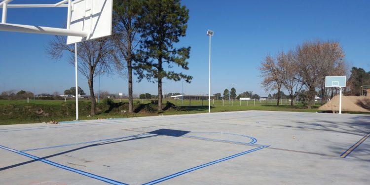 El playón deportivo del Velódromo municipal estará terminado en las próximas semanas
