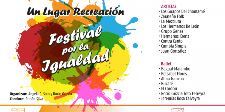 Se realizará el Festival por la Igualdad