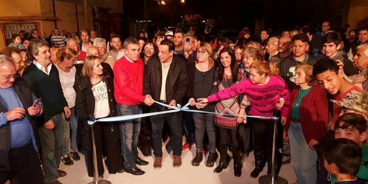 Más trabajo en los barrios: el municipio completa el pavimento de barrio Bayer