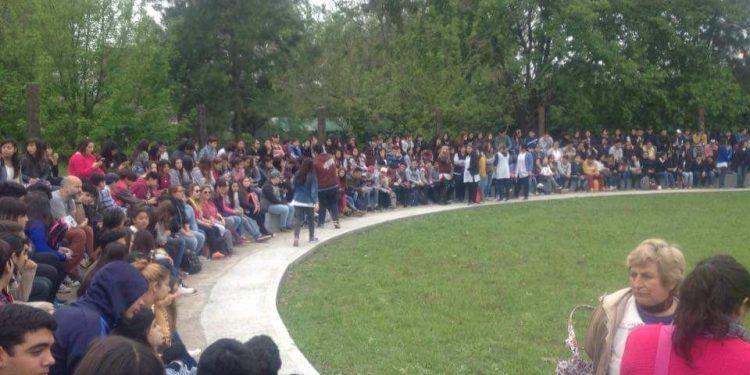 Actividades escolares en el Parque Urbano de Lima