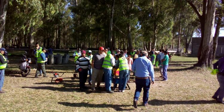 Avanzan las tareas de mejoramiento de espacios públicos a través del Fondo Municipal de Ayuda Social