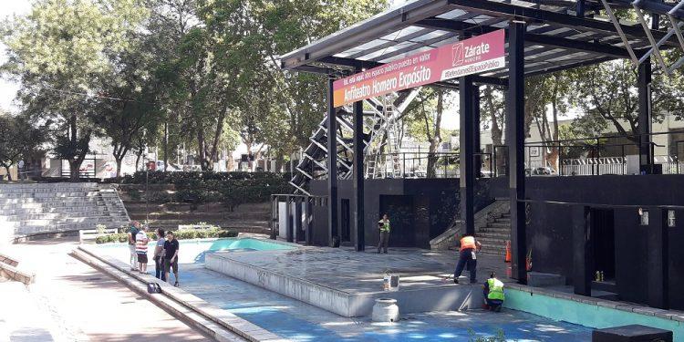 El Municipio pone a punto la Plaza Italia para el Festival de Tango