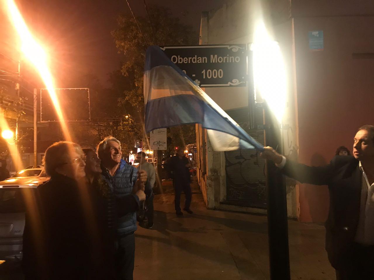 Oberdan Morino tiene su calle en Zárate