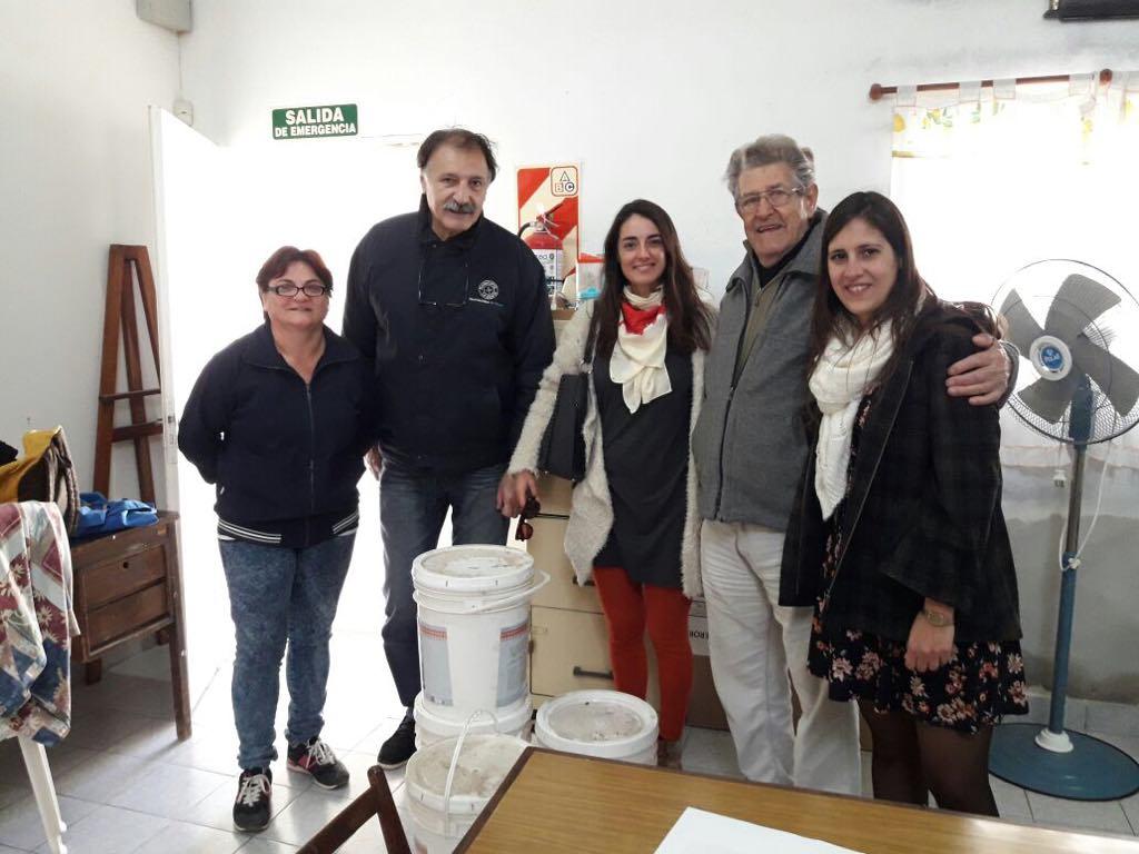 El Municipio entregó materiales al Centro de Jubilados y Pensionados de Zárate