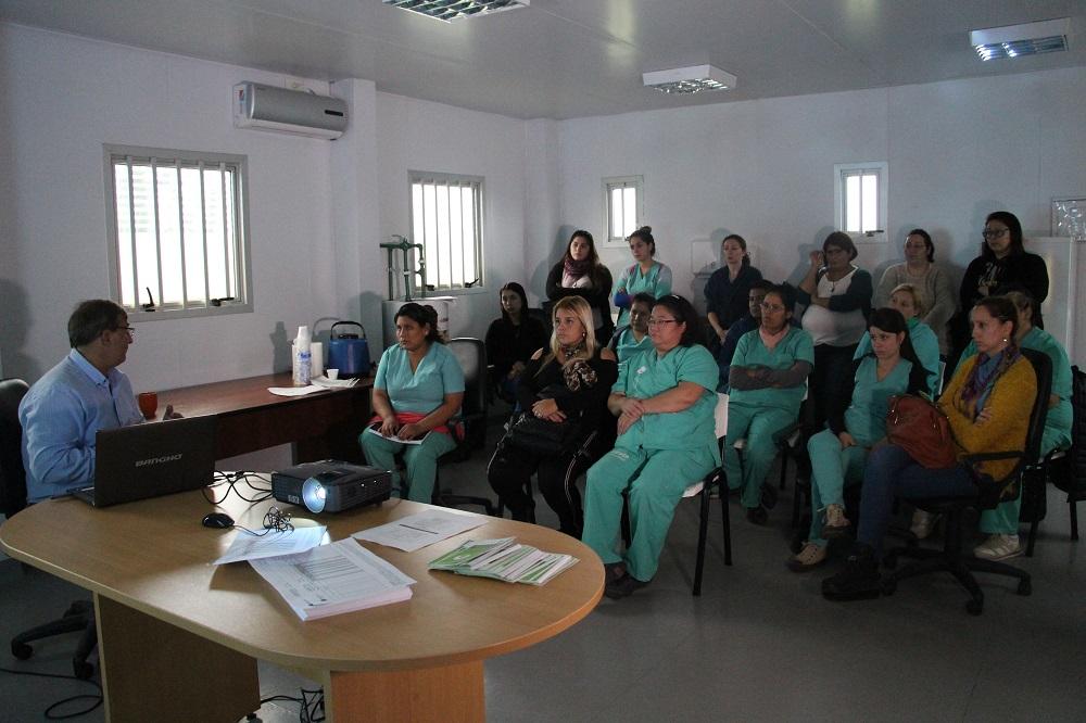Se dictó capacitación para enfermeras en el Hospital Favaloro
