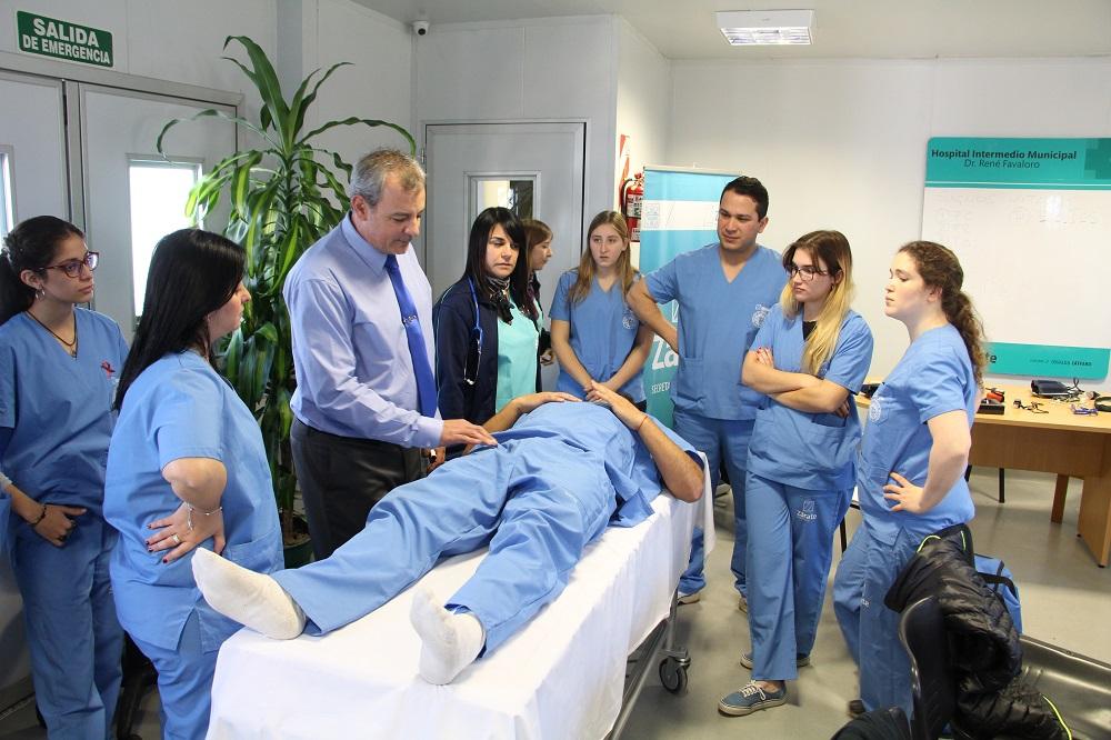Comenzaron las prácticas de los alumnos de Medicina en el Hospital Intermedio