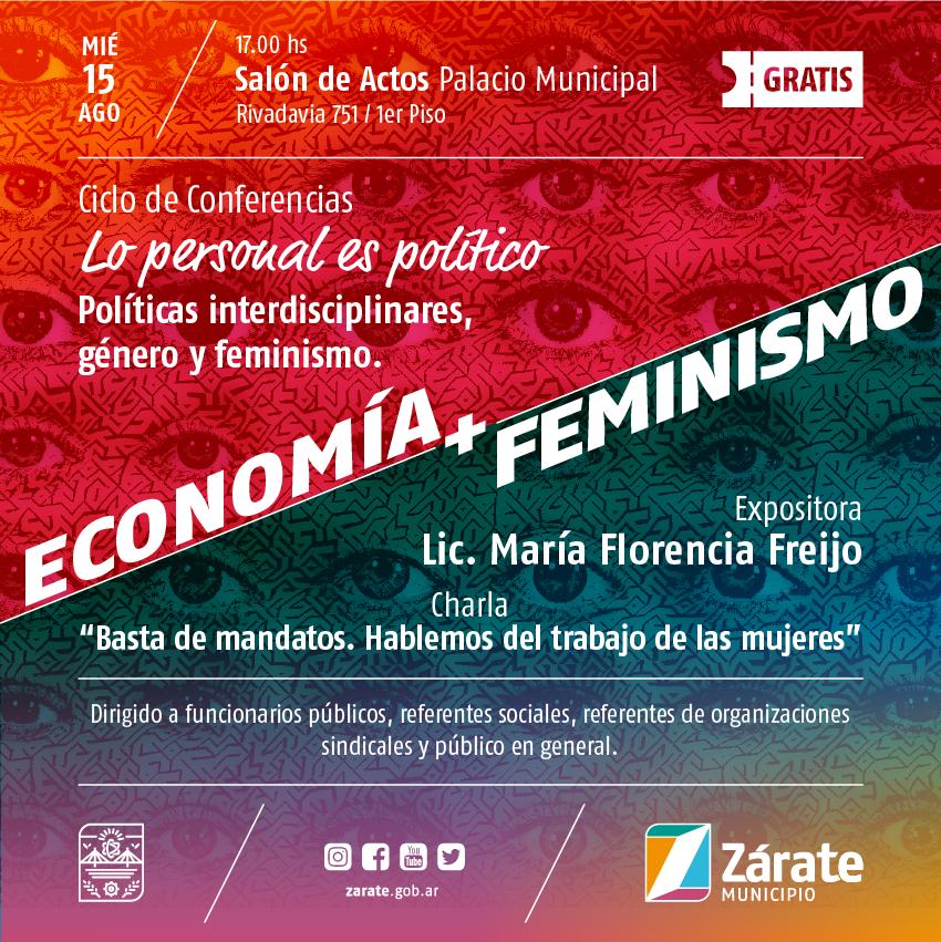 Se realiza una nueva charla del ciclo de conferencias sobre el rol de la mujer