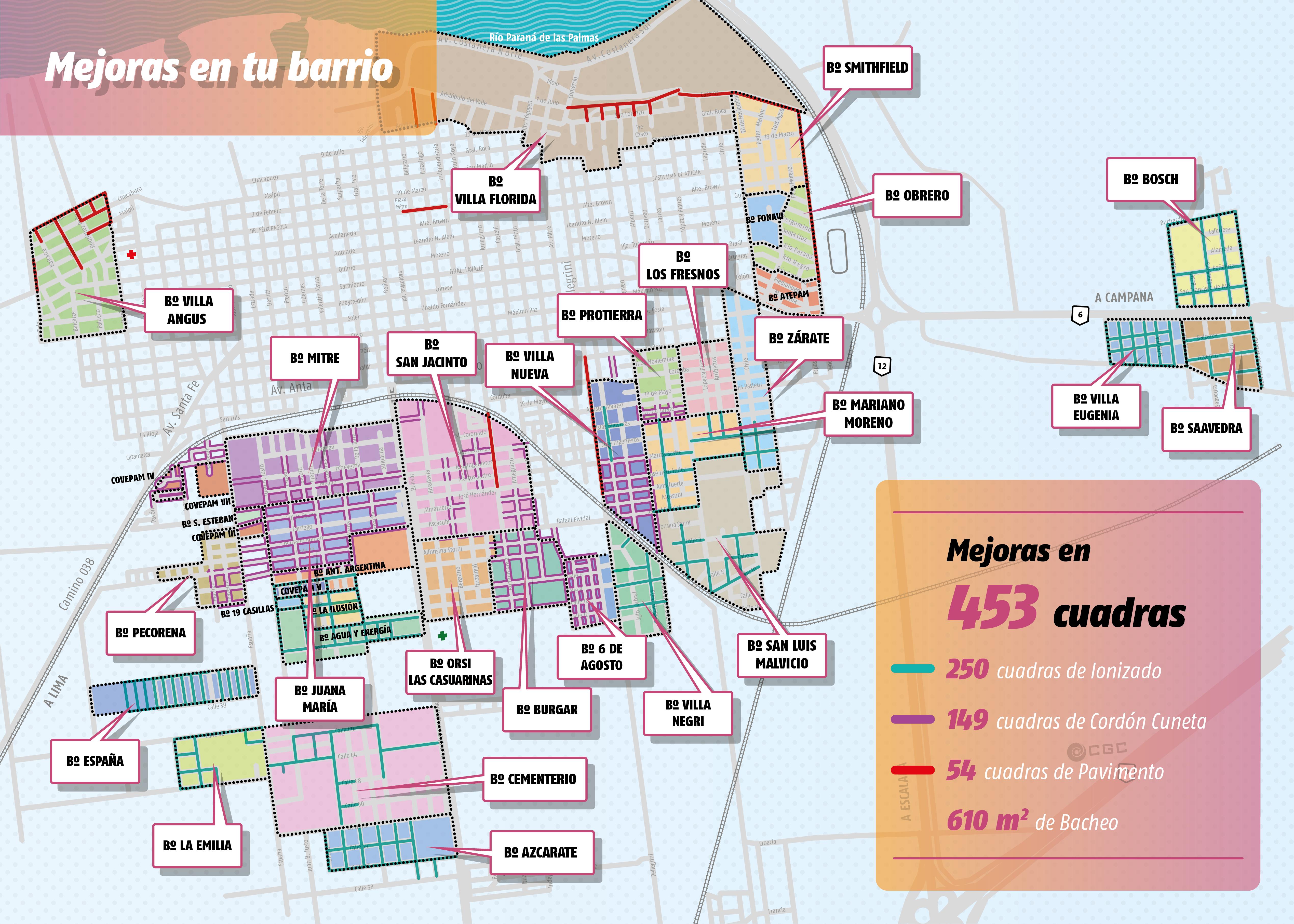 Cáffaro presentó el Plan Integral de Mejoras de Calles