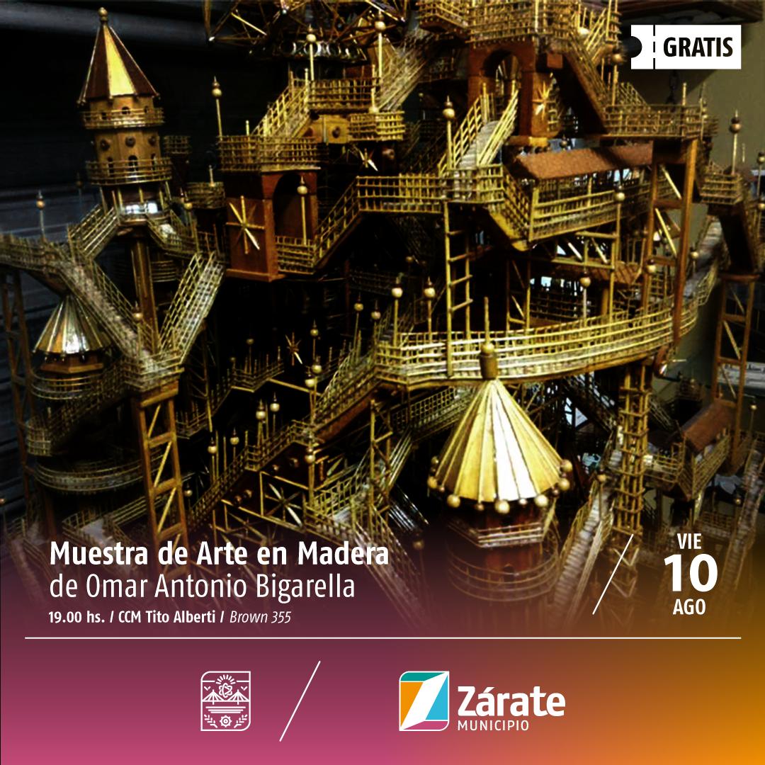 Se presenta una Muestra de Arte en Madera