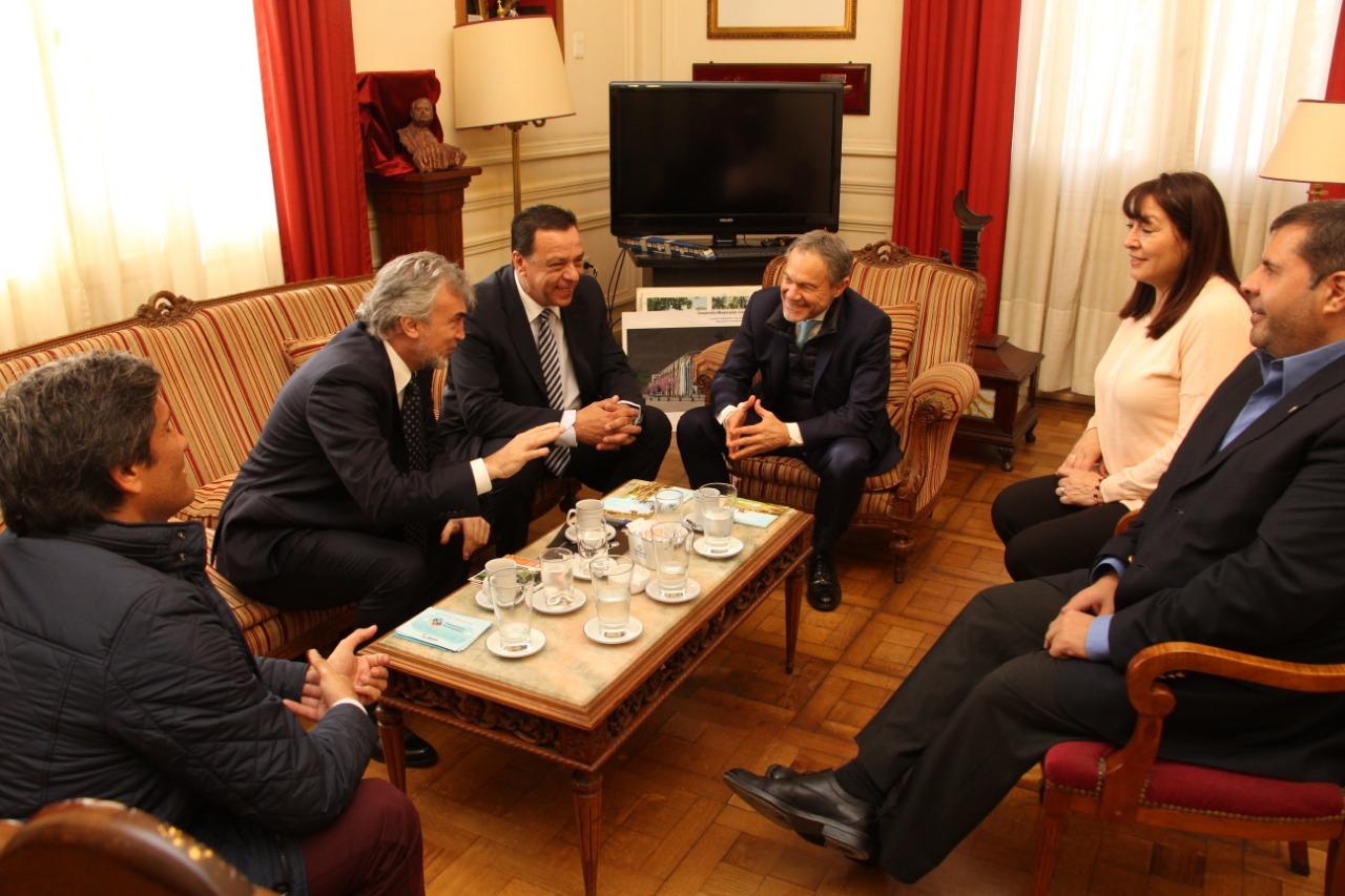 El Intendente Cáffaro recibió al Ministro de Justicia bonaerense Gustavo Ferrari
