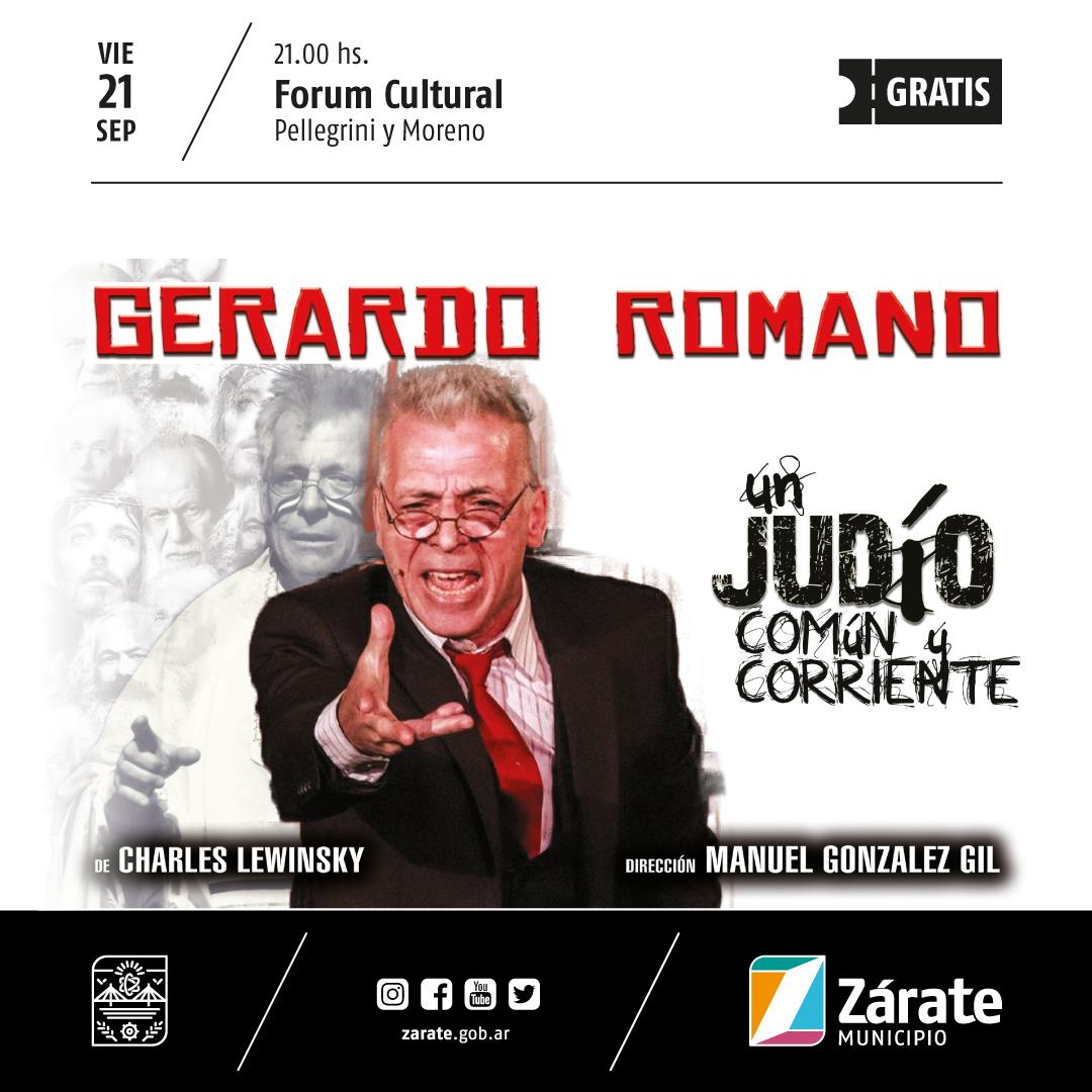 """""""Un judío común y corriente"""", Gerardo Romano en el Forum Cultural"""