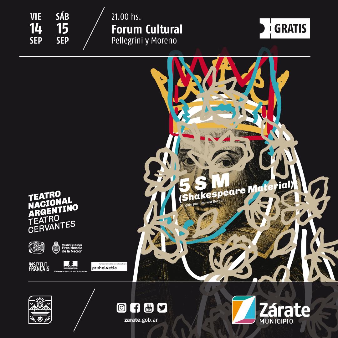 Con Shakespeare, vuelve el Cervantes al Forum Cultural