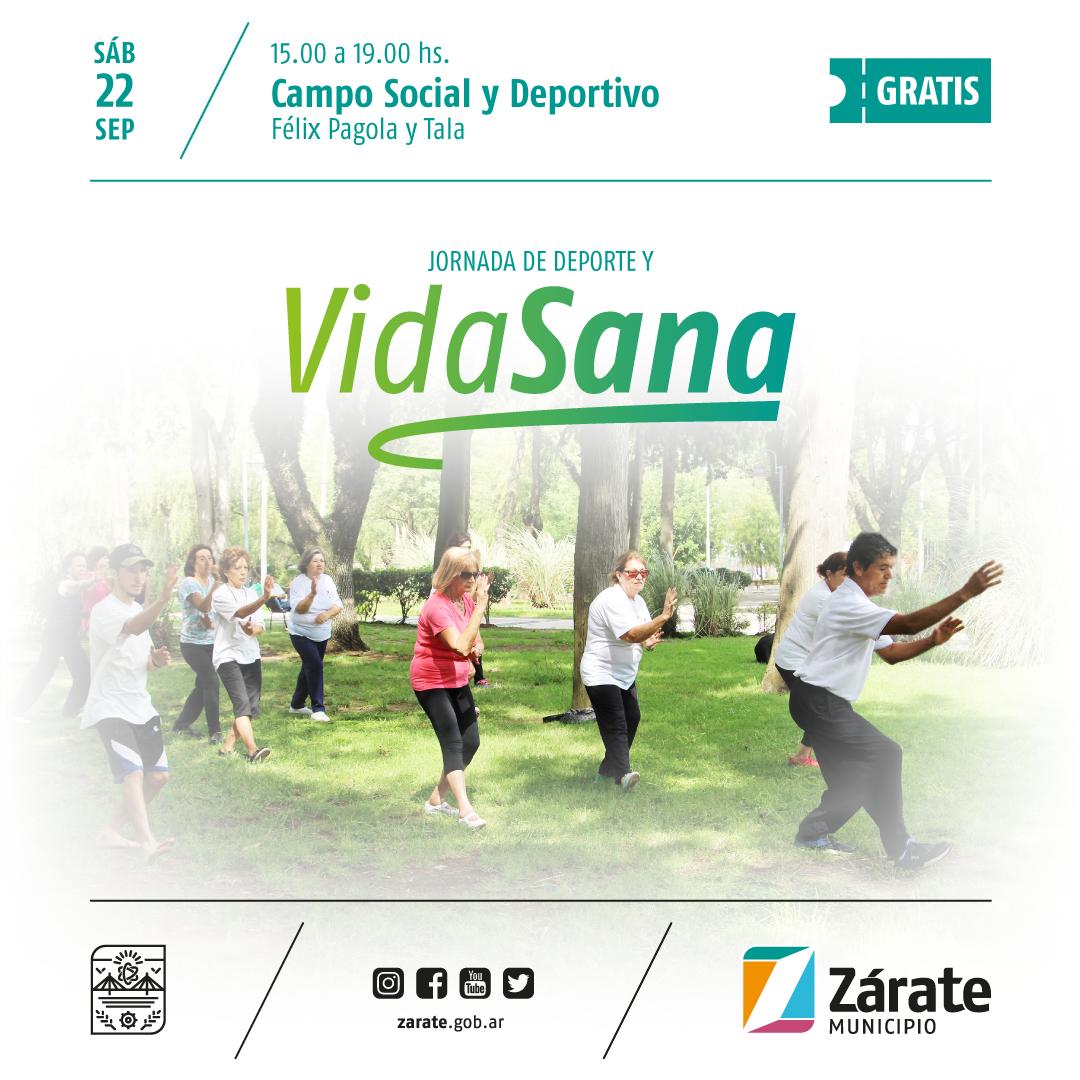 Jornada de Deporte y Vida Sana en el Campo Social y Deportivo Municipal