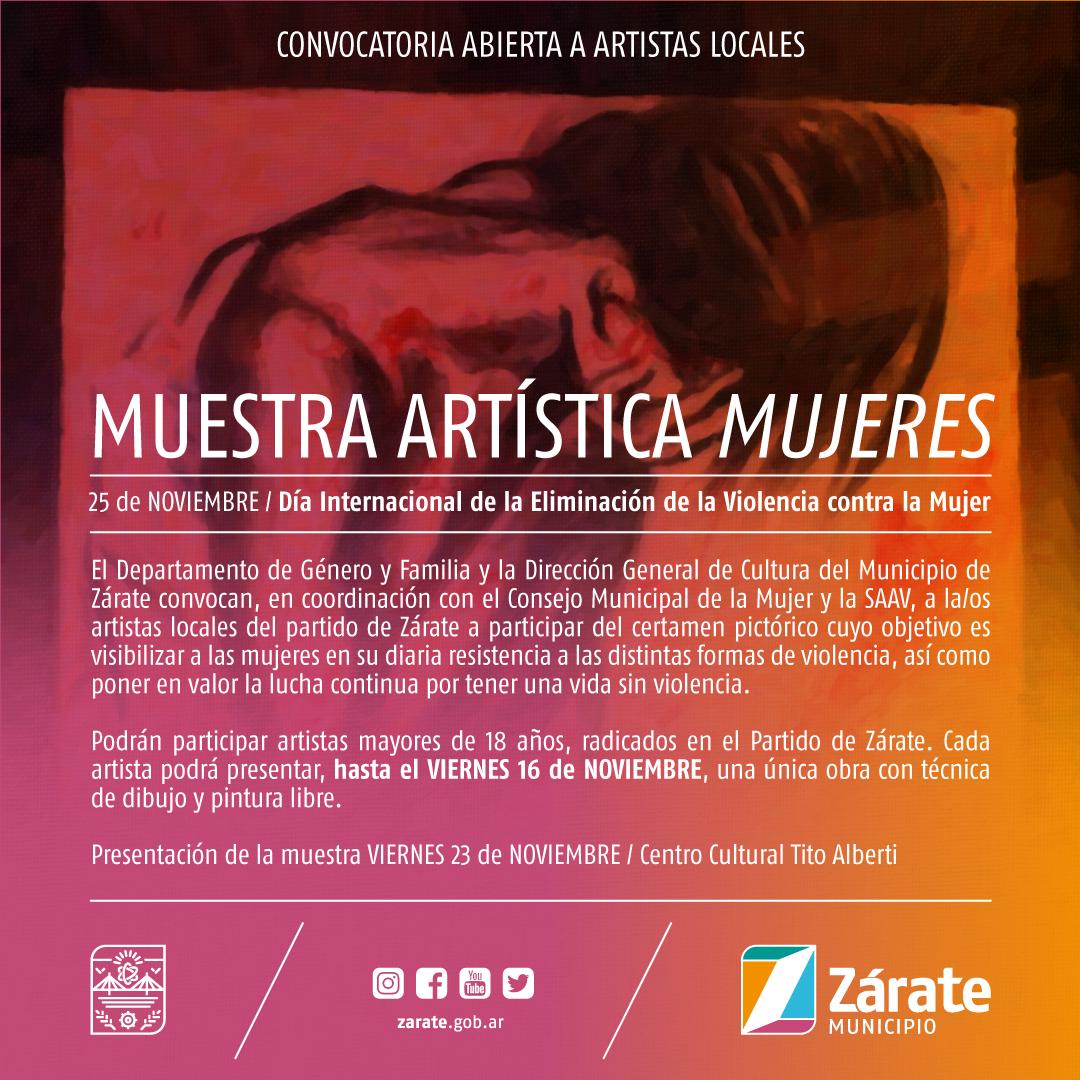 """Convocan a artistas locales para la Muestra """"Mujeres"""""""