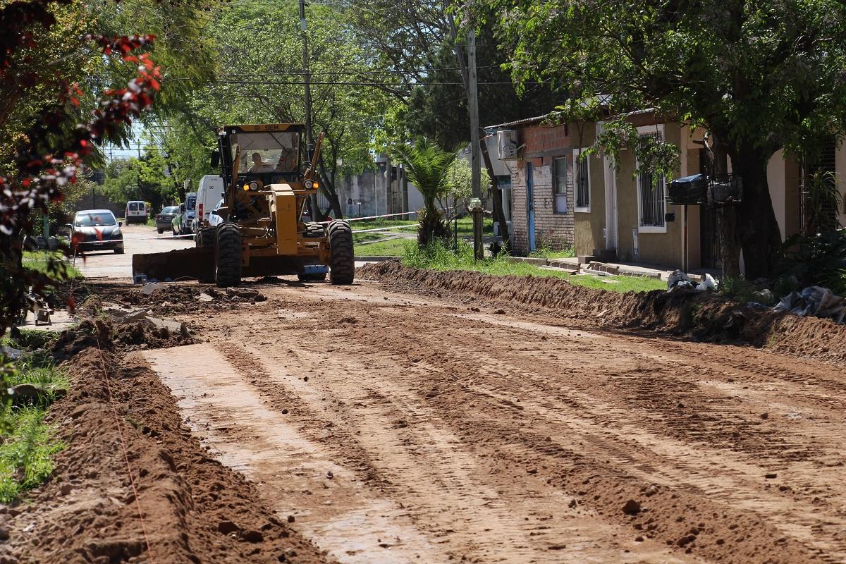El Municipio avanza con cordón cuneta en San Jacinto