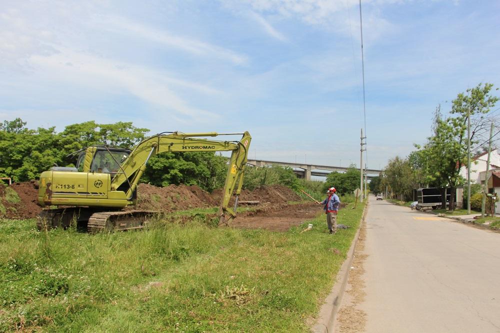 Municipio comenzó la construcción de la doble mano sobre Caseros