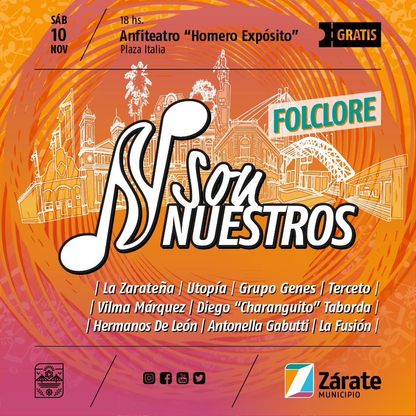 """Se realizará el Festival de Folclore del programa """"SonNuestros"""""""