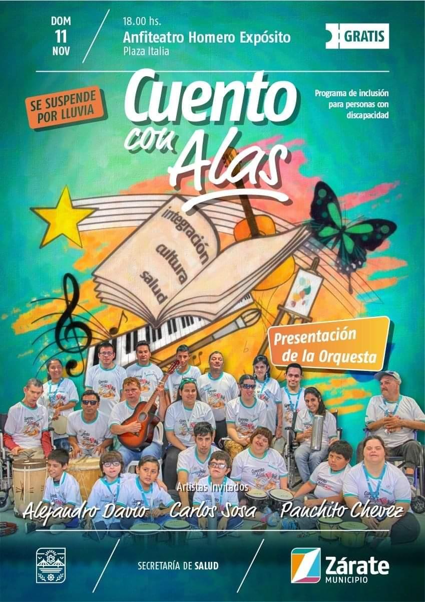"""""""Cuento con Alas"""" se presenta el domingo en Plaza Italia"""