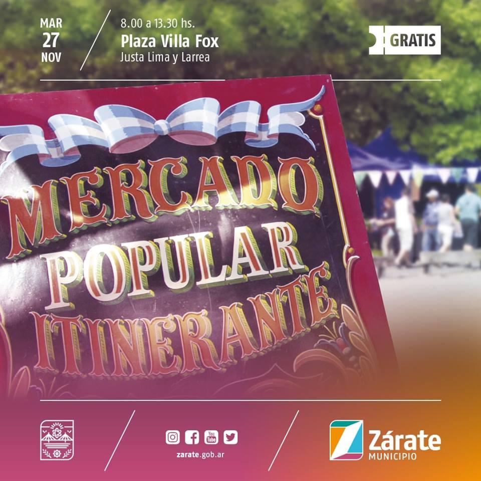 El Mercado Popular Itinerante llega a Villa Fox