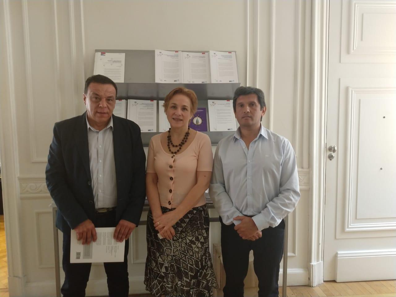 Cáffaro visitó la Fundación Ebert en una reunión de apoyo institucional
