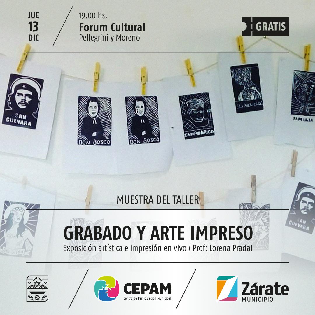 Municipio presenta muestra artística de grabado y arte impreso
