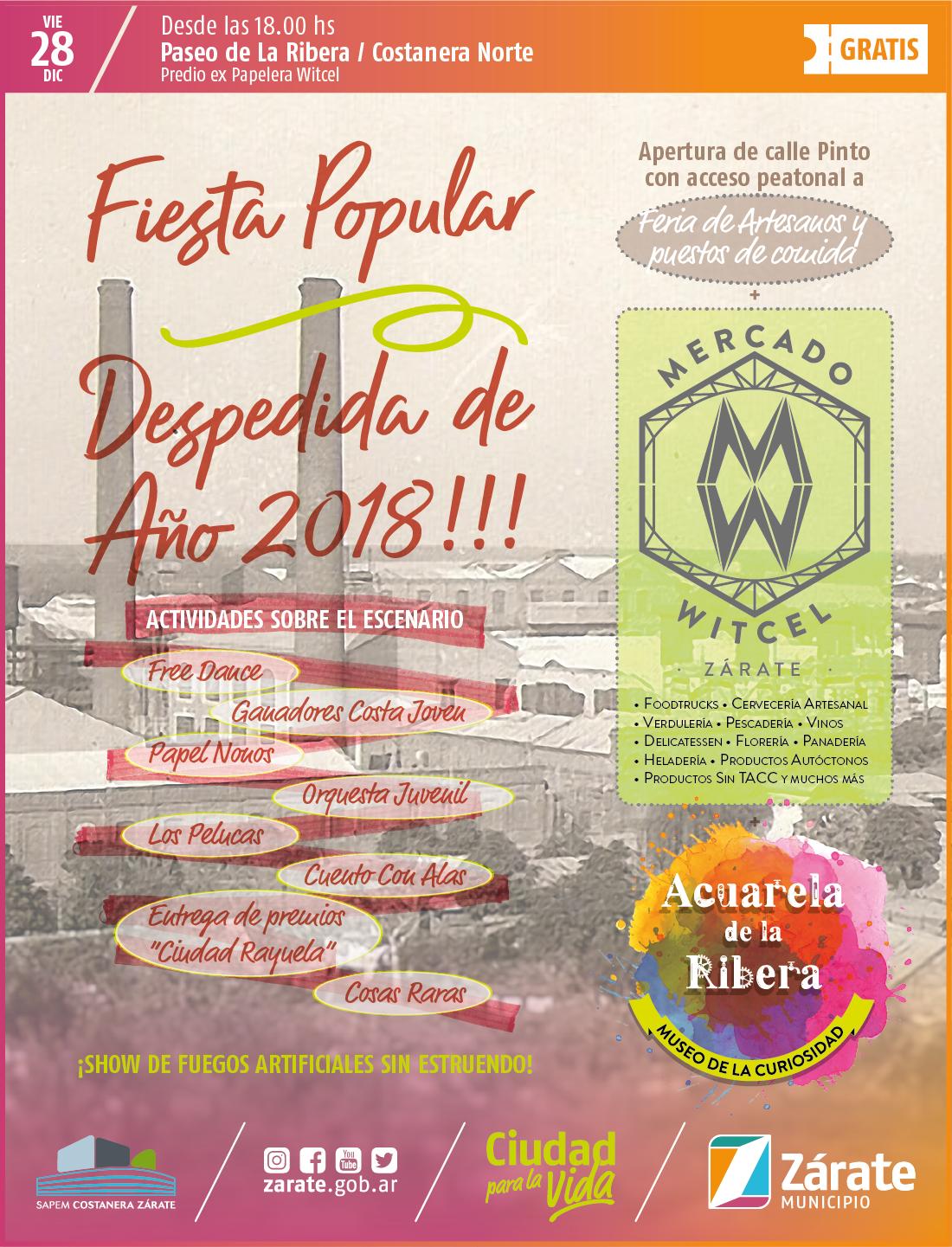 El Municipio despide el año con la inauguración del Mercado Witcel y una gran fiesta popular