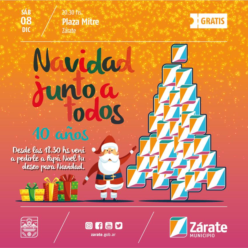 El sábado se enciende el arbolito de Navidad en Plaza Mitre