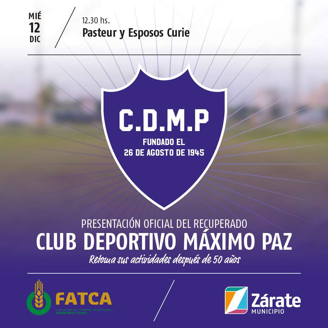 Se realiza el lanzamiento del recuperado Club Deportivo Máximo Paz