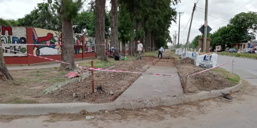 Presupuesto Participativo: avanza la construcción de vereda en Av. Pividal
