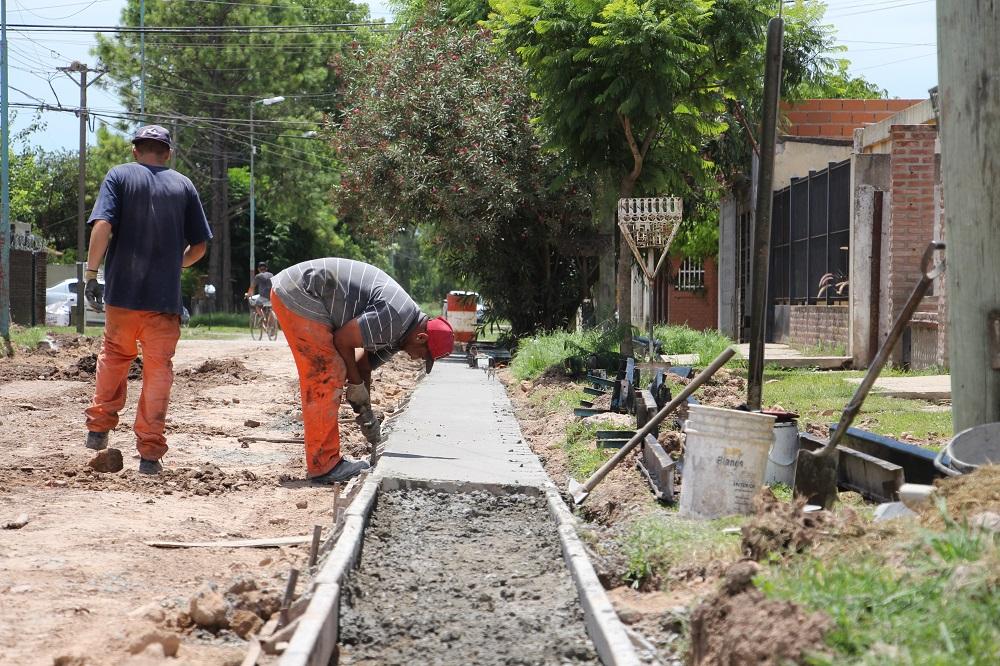 Continúan las obras en el barrio Mitre