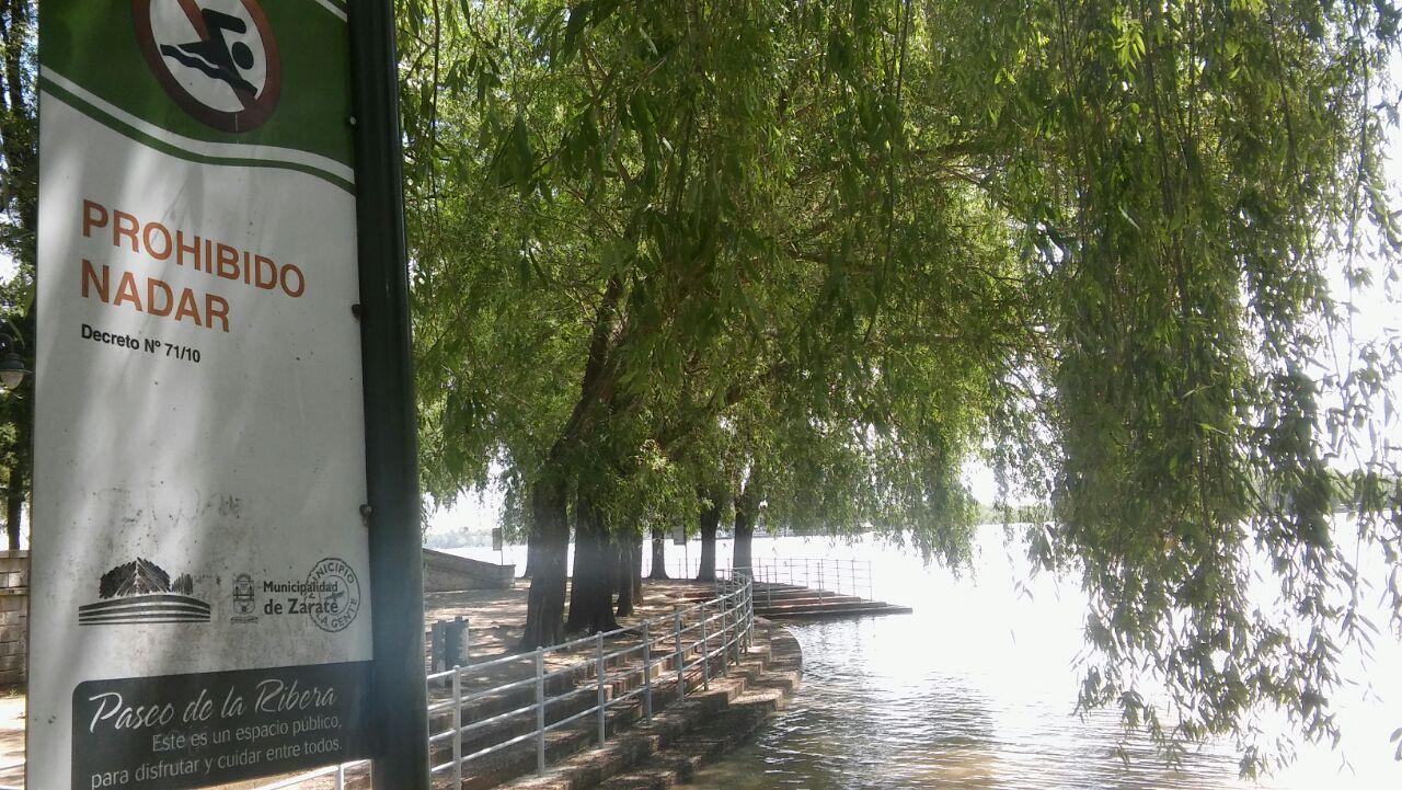 El Municipio advierte sobre el peligro de bañarse en aguas no habilitadas en la zona ribereña