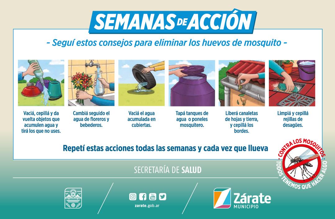 La Secretaría de Salud comenzó campaña contra el dengue