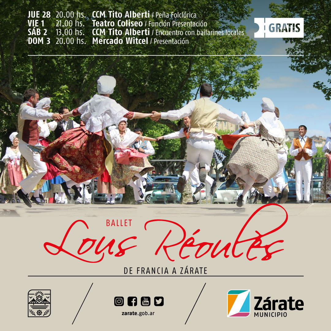 El Ballet francés Lous Reoules se presenta en Zárate