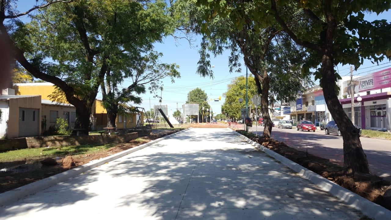 Comenzó la pavimentación de la avenidaMitre