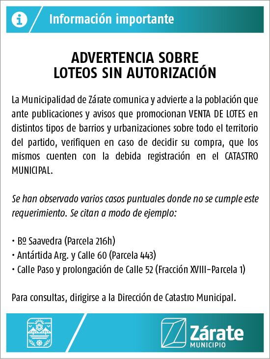 Municipio advierte sobre publicidad irregular de ventas de terrenos