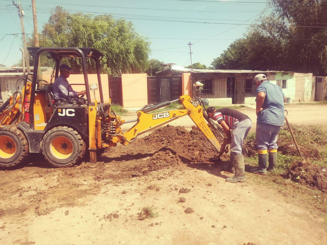 Servicios Públicos colocó una alcantarillaen el barrio Pecorena