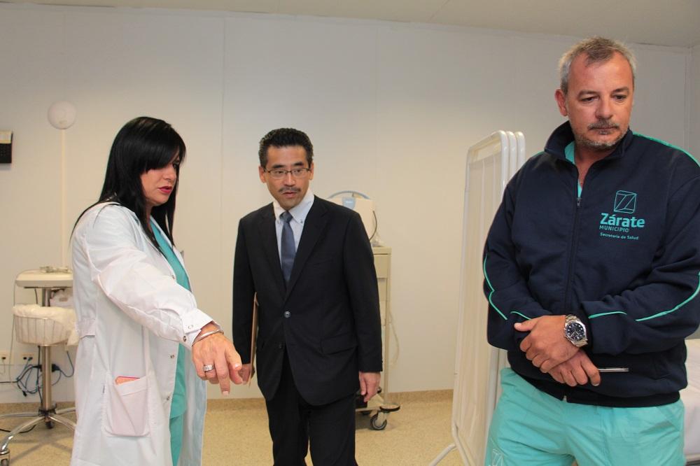 Funcionarios de la Embajada de Japón visitaron el Hospital René Favaloro