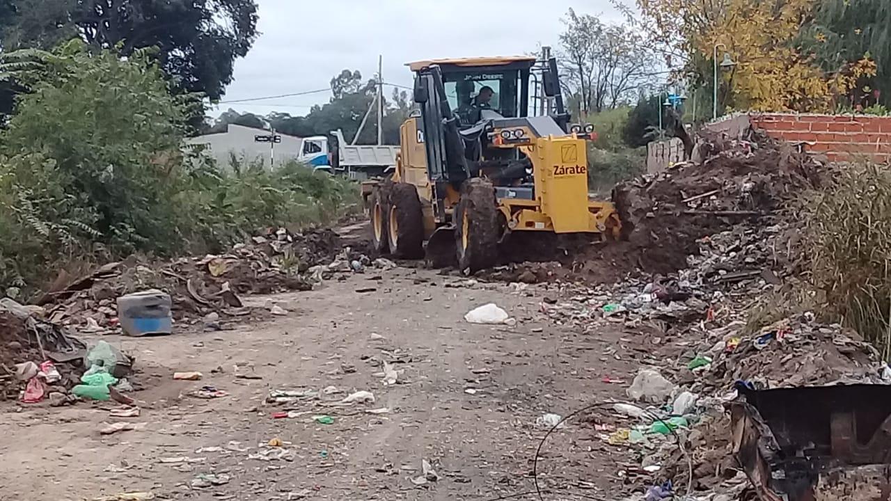 Programa Mi Barrio: Mejoras de calles y limpieza de basural clandestino