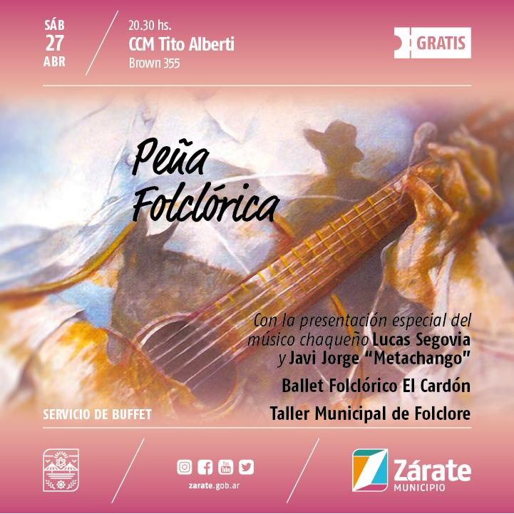 Peña Folclórica en el Centro Cultural Tito Alberti
