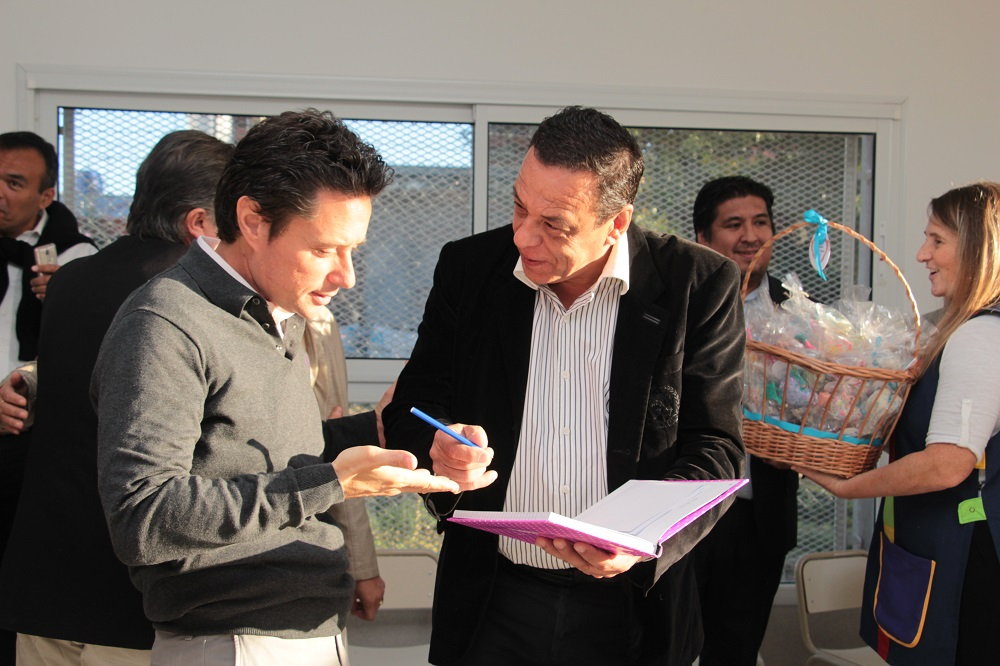 Cáffaro y Sánchez Zinny recorrieron el Jardín N°923