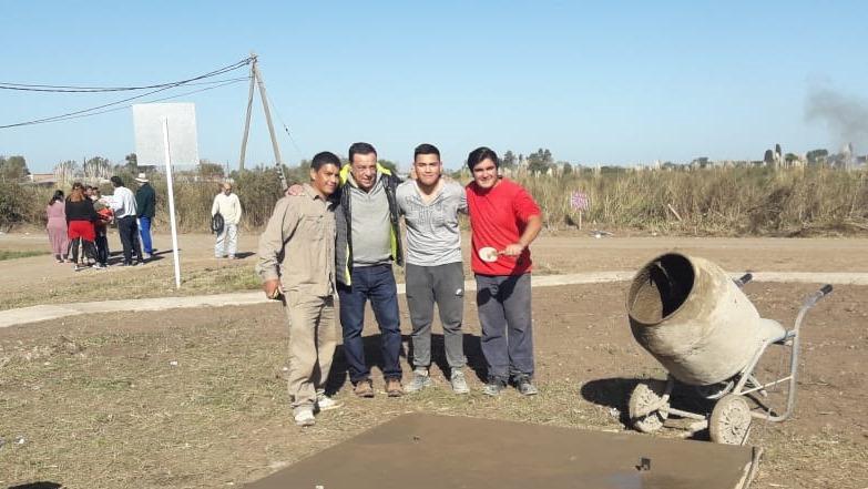 El Intendente Cáffaro recorrió obras del Programa Mi Barrio