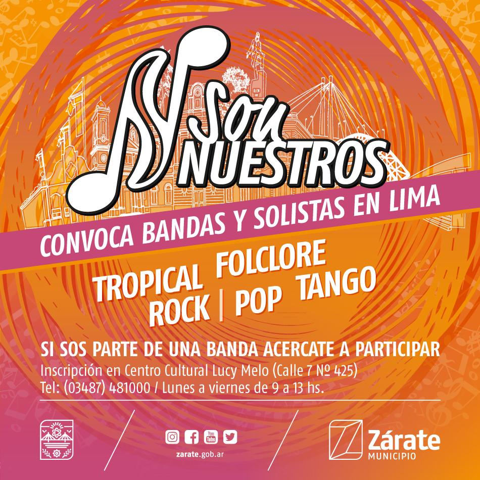 """Los músicos podrán inscribirse para """"SonNuestros"""" en Zárate y Lima"""