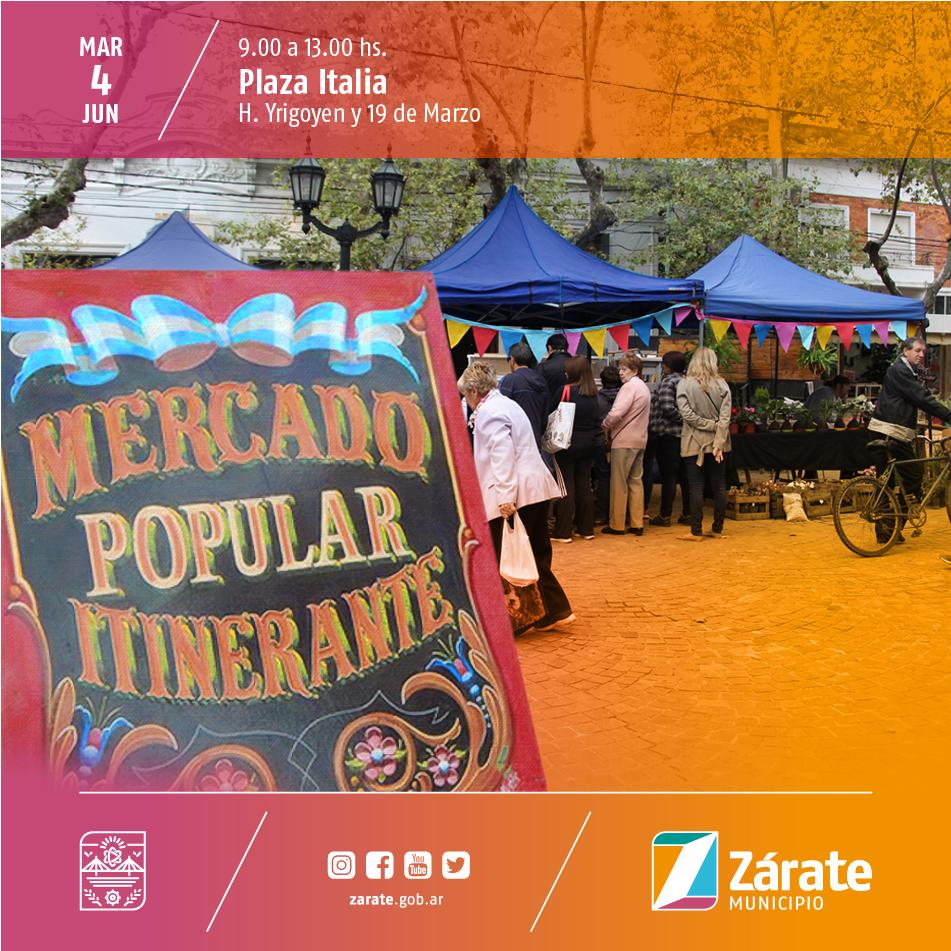 ElMercadoPopularItinerante llega a la Plaza Italia