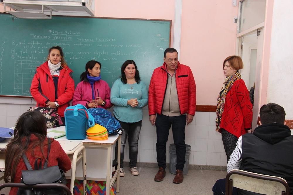 Cáffaro recorrió obra del Programa Mejor Escuela