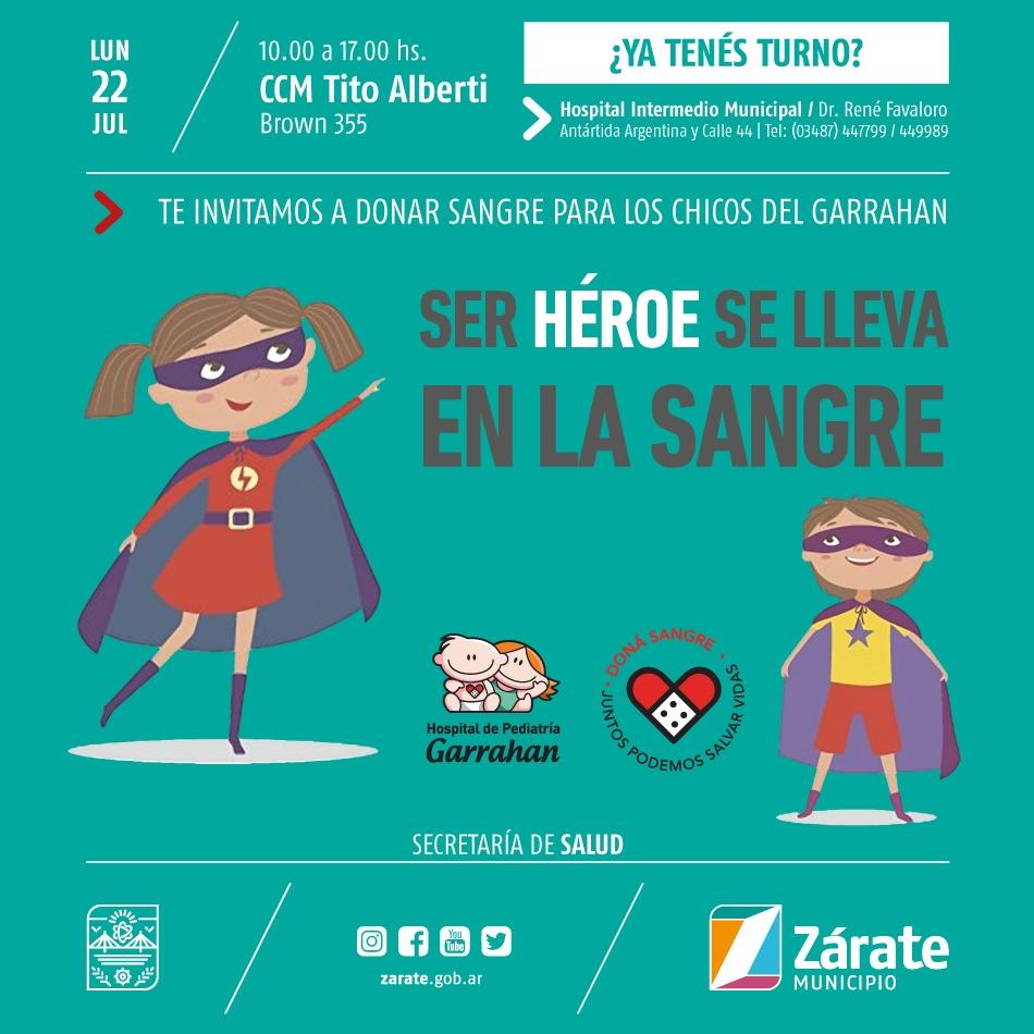 Secretaría de Salud Municipal realiza nueva campaña de donación de sangre para el Hospital Garrahan