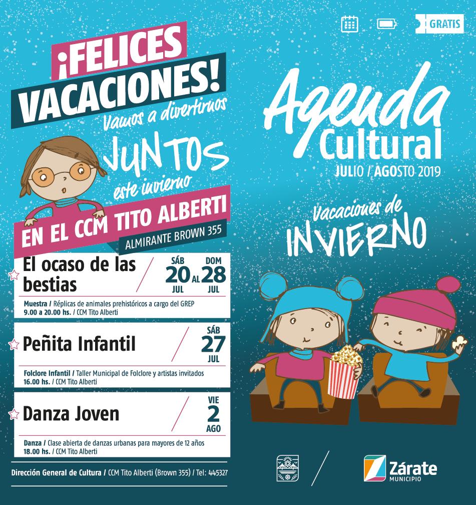 Agenda Cultural en vacaciones de invierno: comienzan las actividades gratuitas