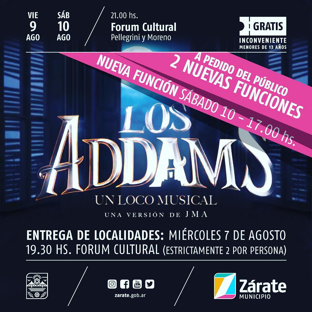"""Nueva función de """"Los Addams"""" en el Forum Cultural"""